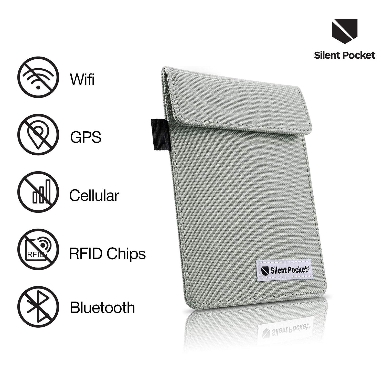SPS-FGBN Black Car Anti Theft Device Shielding Against All Signal Types Fits Most Car Keyfobs Including RFID Blocking /& Durable Faraday Bag Silent Pocket Signal Blocking Faraday Key Fob Case