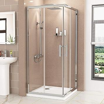 Puerta corredera de esquina para ducha de vidrio templado: Amazon.es: Bricolaje y herramientas