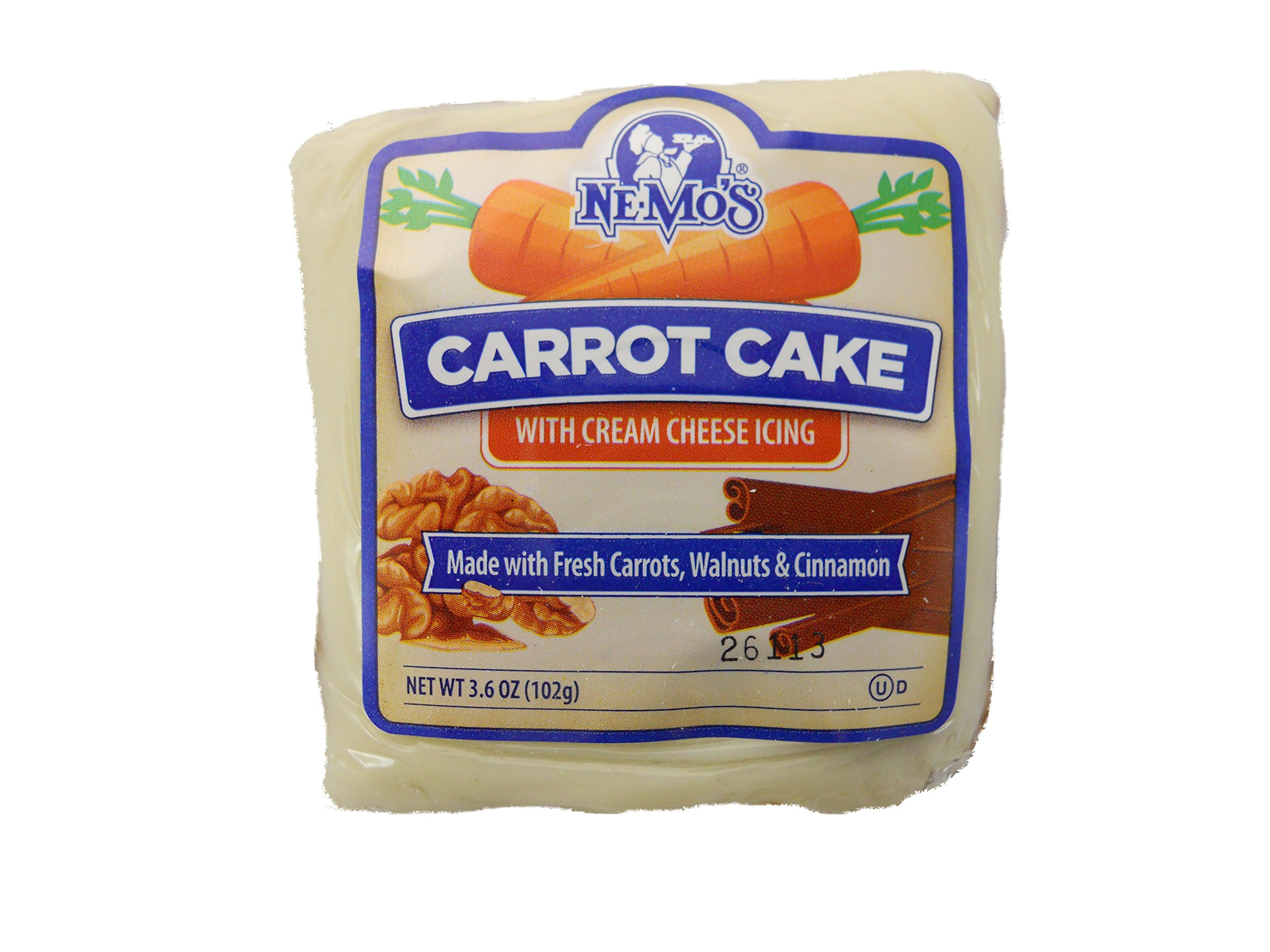 Nemo's Carrot Cake Square, 3.6 oz. (36 count)