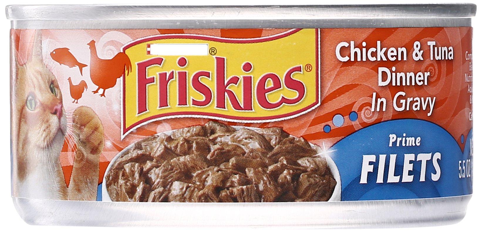 Friskies Prime Filets Chicken & Tuna Dinner in Gravy Cat Food, 1 ct