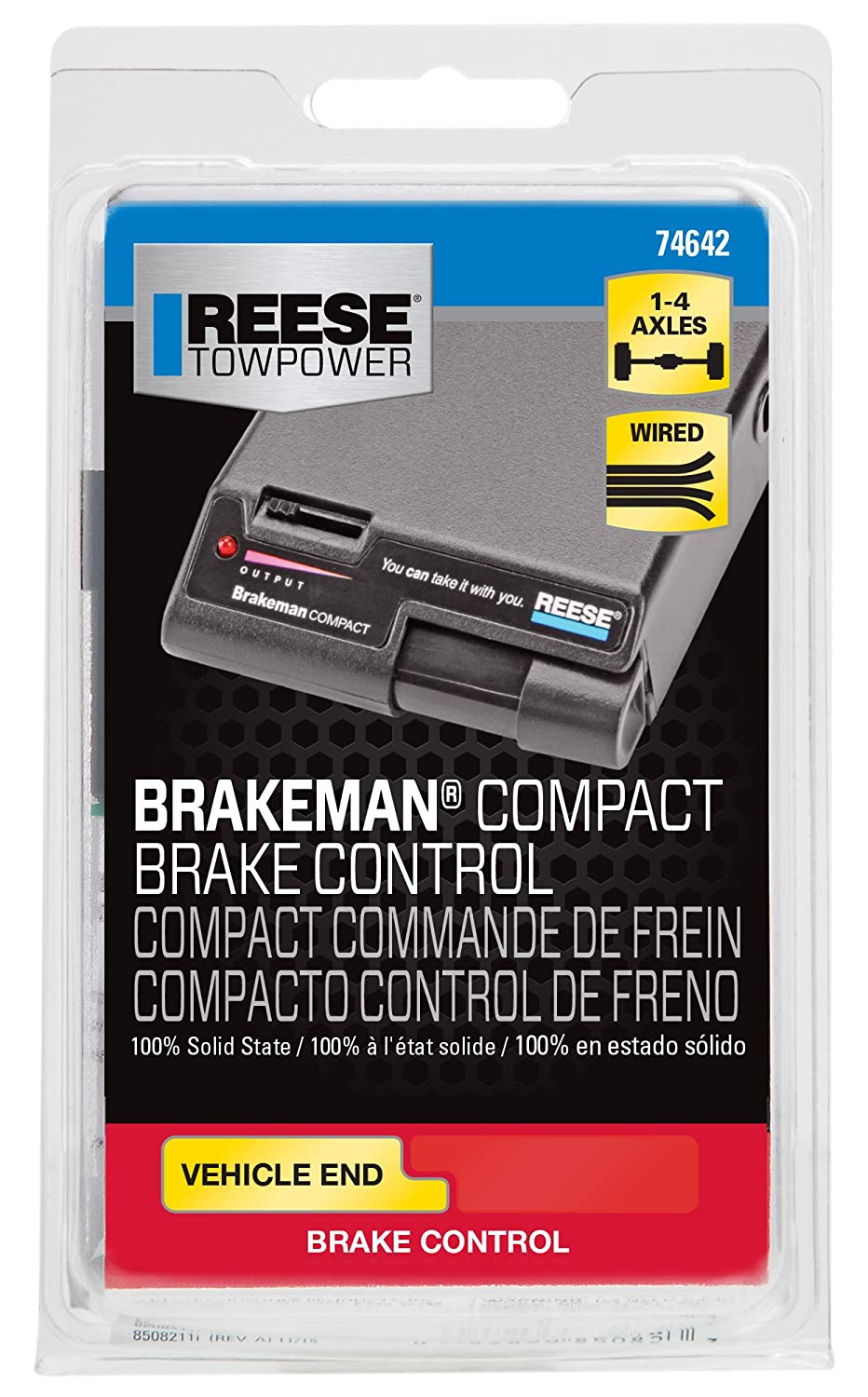 Reese Towpower 74642 Brakeman Timed Compact Brake Wiring Diagram For Tandem Axle Trailer Control Automotive