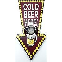 Abridor de Garrafas Cerveja Magnético Formato de Seta Retrô