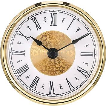 Amazoncom Hicarer 3 18 Inch 80 Mm Clock Insert With Roman - 3-roman-numerals-clocks