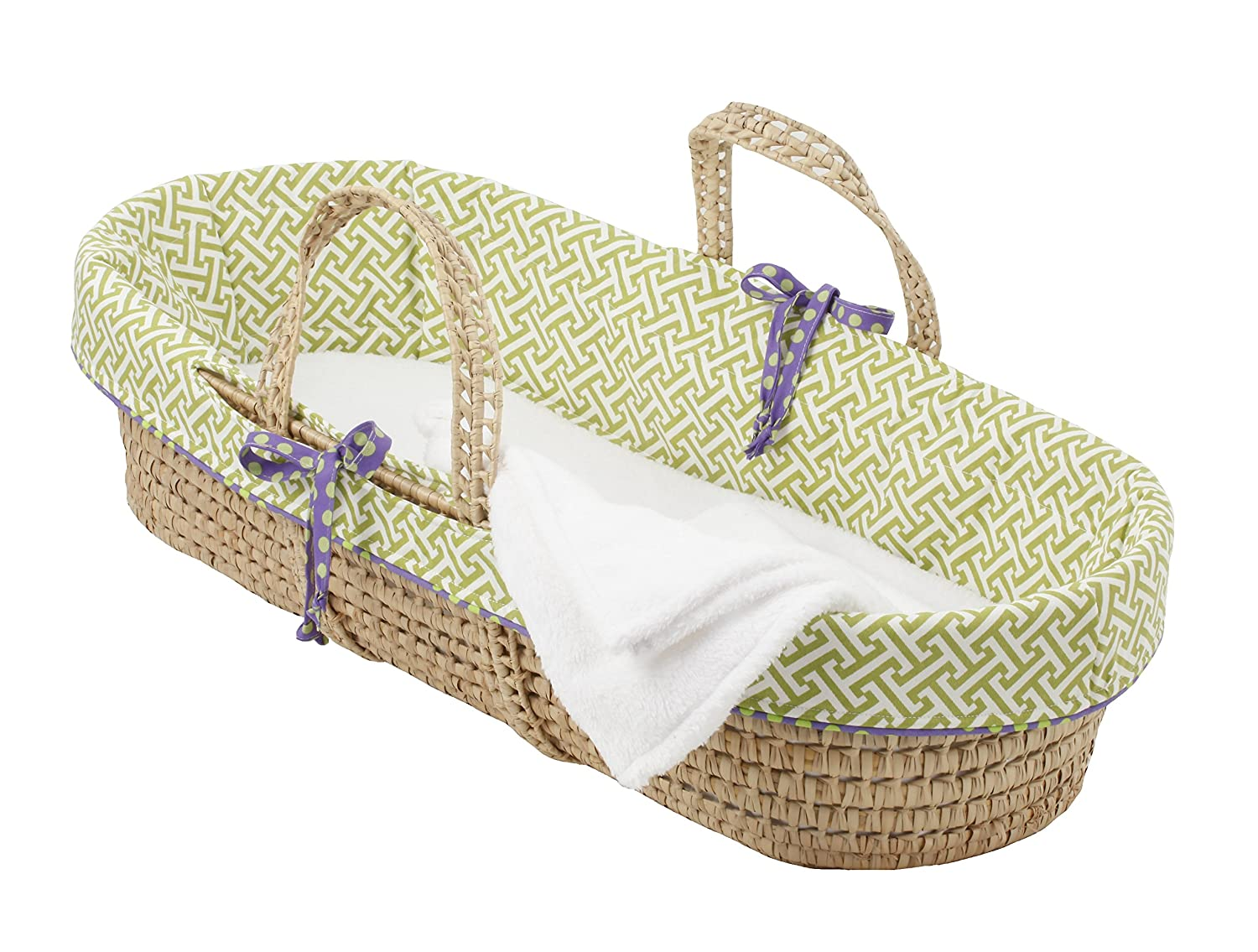 Cotton Tale Designs Moses Basket, Periwinkle Boy