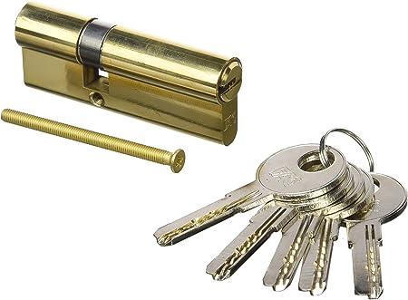 100 Mm Profil Cylindre à 15 clés Cylindre De Verrouillage Serrure à cylindre 45//55