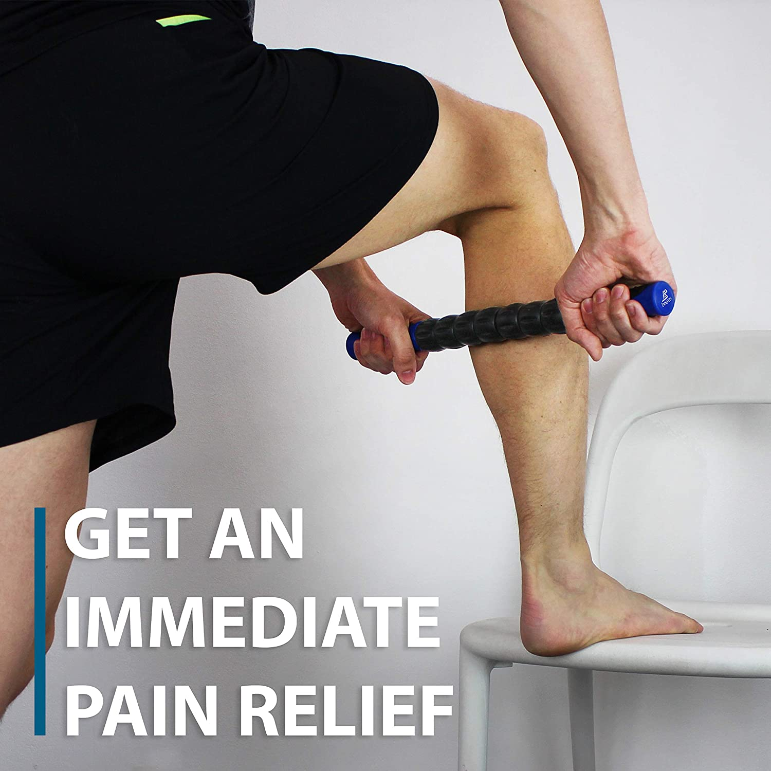 Designed to Relieve Stress and Relax Tight Muscles Beenax Muscle Roller Stick Quads /& Calf Tightness Leg Myofascial Release Deep Tissue Perfect for Trigger Points