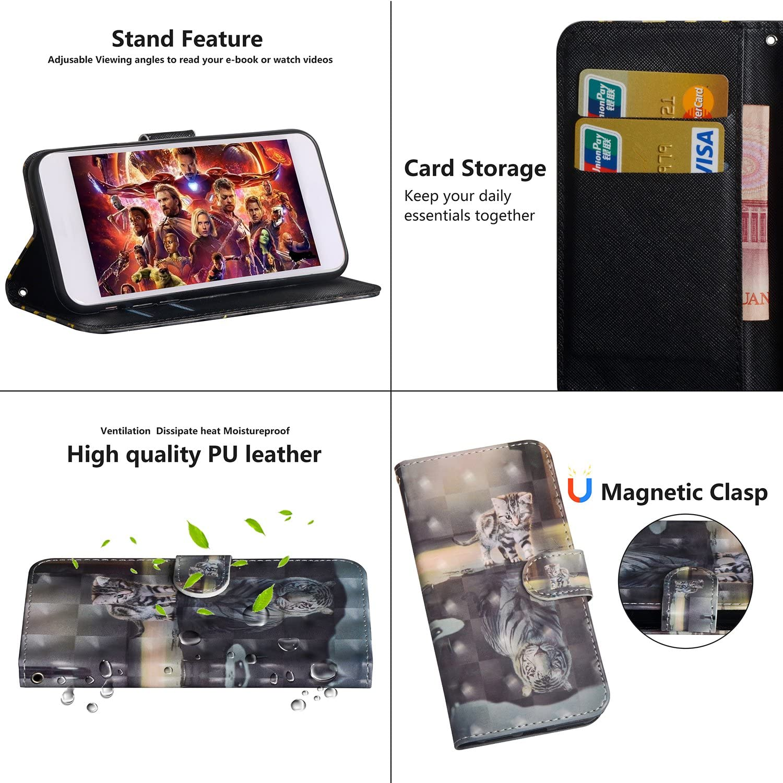 YX 3D Leder Schutzh/ülle Brieftasche H/ülle Flip Case 3D Muster Cover mit Kartenfach Magnet Tasche Handyh/üllen f/ür LG X Power 3 Cat Tiger MRSTER LG Xpower 3 Handytasche