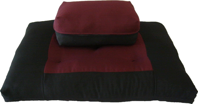 D&D Futon Furniture Zabuton Zafu Set, Yoga, Meditation Seat Cushions, Kneeling, Sitting, Supporting Exercise Pratice Zabuton & Zafu Cushions.