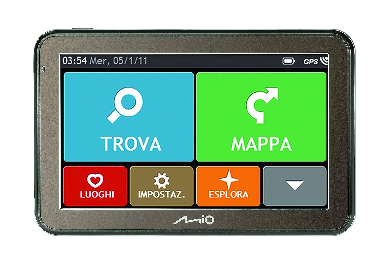 Mio Spirit 7500 WEU LM Portable/Fixe 5' É cran Tactile 158g Olive navigateur - Navigateurs (Interne, Europe de l'ouest, 12,7 cm (5'), 480 x 272 Pixels, 800 MHz, Portable/Fixe) Europe de l' ouest 7 cm (5) 5420027525815