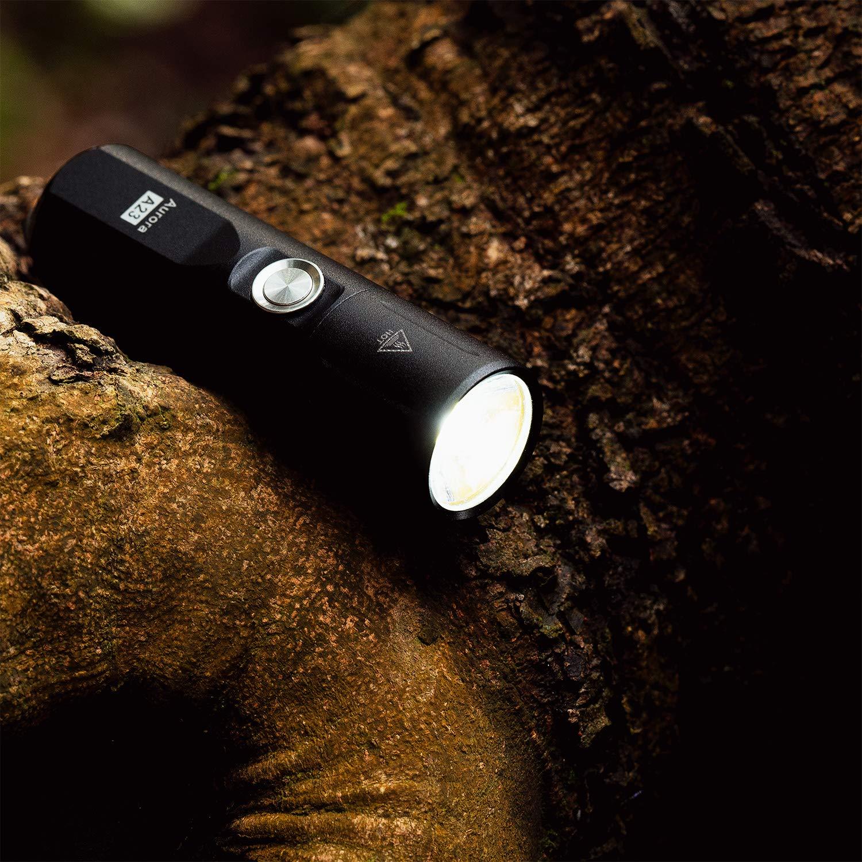 aleaci/ón de aluminio IP68 a prueba de agua Aurora mini linterna recargable con llavero Rovyvon A23 Nichia Super Bright LED Flashlight modo de memoria 700 l/úmenes alto CRI Nichia 219C Light