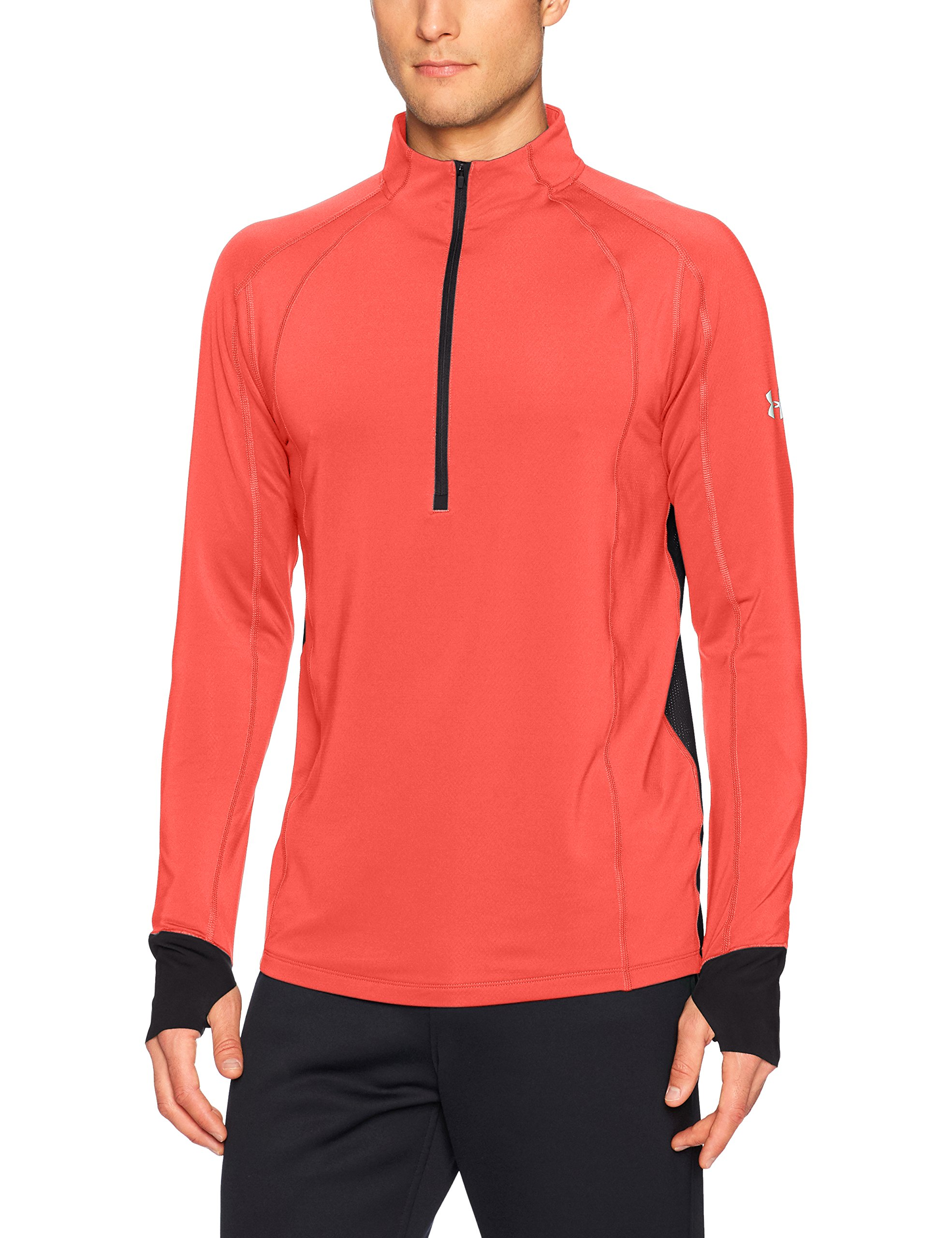 Under Armour Men's ColdGear Reactor Run ½ Zip,Marathon Red (963)/Reflective, Small