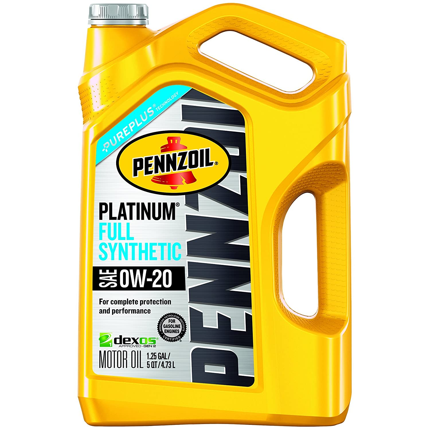 Pennzoil Platinum Full Synthetic Motor Oil 0W-20 - 5 Quart Jug