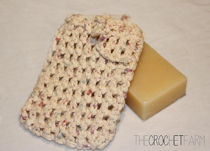 Amazon All Cotton Neutral Color Crocheted Soap Bag Soap Saver
