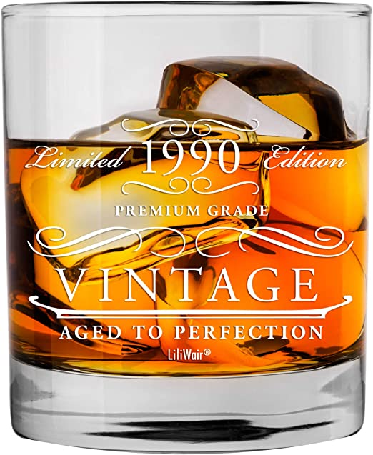 Amazon Com 1990 30th Birthday Gifts Men Women Birthday Gift For Man Woman Turning 30 Funny 30 Th Party Supplies Decorations Ideas Thirty Year Old Bday Whiskey Glass