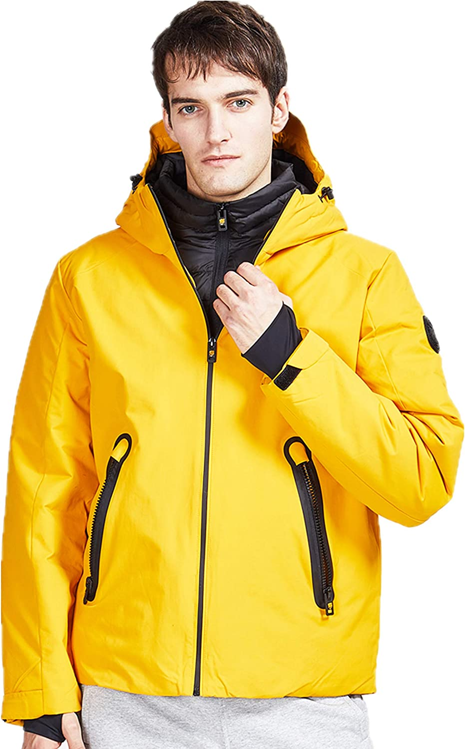 TIGER FORCE Men Winter Jackets Winter Quilted Coat Rain Jacket Waterproof Outdoor Camping Travel at  Men's Clothing store