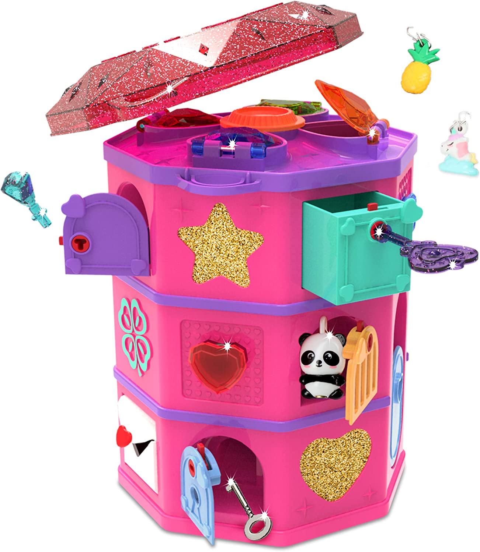 emozionante puzzle e portagioie fai da te Multi Funlockets S19700 Secret Surprise Escape Game Treasure Hunt Tower Trova i gioielli et/à 6 anni pi/ù