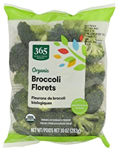 365 by Whole Foods Market, Organic Produce - Packaged Vegetables, Broccoli - Florets, 10 oz