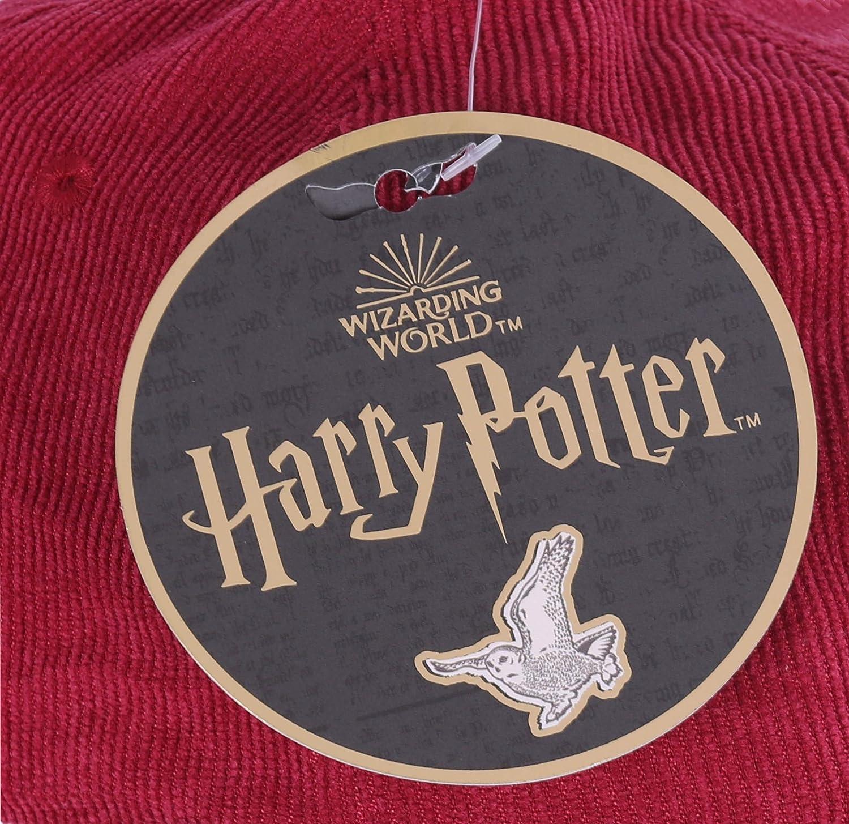 Harry Potter Casquette Velours Bordeaux Gryffiondor