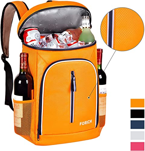 FORICH Soft Cooler Backpack Insulated Waterproof Backpack Cooler Bag Leak Proof Portable Small Cooler Backpacks to Work Lunch Travel Beach Camping Hiking Picnic Fishing Beer