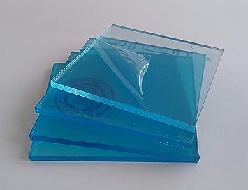 4 X Metacrilato transparente 3 mm. 10 x 10 cm. - Diferentes tamaños (100x100, 100x70, 50x50, 30x30) - Plancha de Metacrilato traslucido a medida - Placa acrílico transparente: Amazon.es: Bricolaje y herramientas
