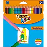 BIC Kids Tropicolors Colouring Pencils - Assorted Colours, Wallet of 24