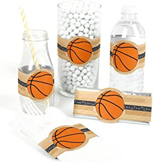 product image for Big Dot of Happiness Nothin' but Net - Basketball - DIY Party Supplies - Baby Shower or Birthday Party DIY Wrapper Favors and Decorations - Set of 15