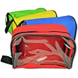 Lightning X Color Coded First Aid Medical Kit Accessory Pouches - Zippered Bag w/ Transparent Window - Set of 4