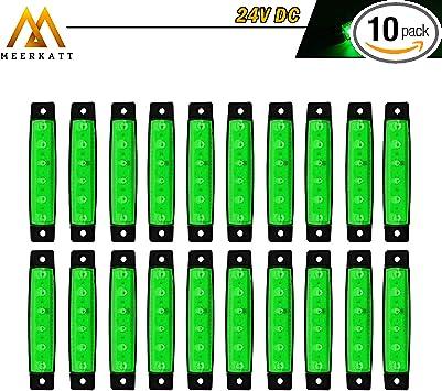 3.8 Inch Amber 6 LED SMD Extra Bright Indicators Side Clearance Marker Light Rear Tail Turn Signal Truck Bus Trailer Car SUV Boat Lorry Caravan Sedan Camper RV 12v DC Model TK12 Meerkatt Pack of 20