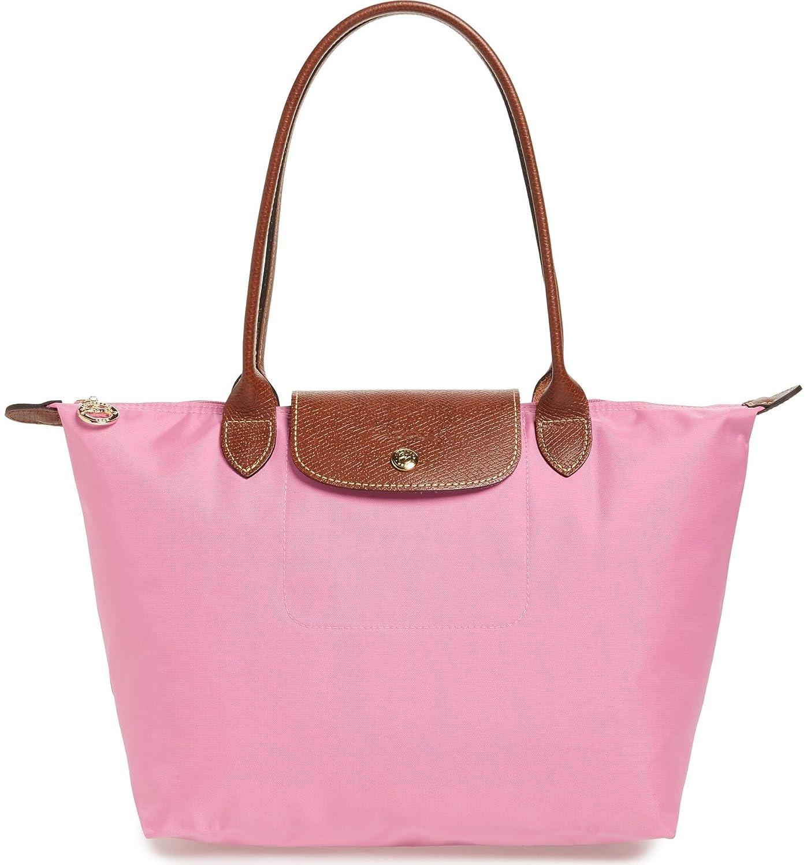Amazon.com  Longchamp  Medium  Le Pliage  Tote Shoulder Bag, Light Pink   Shoes ade0485974