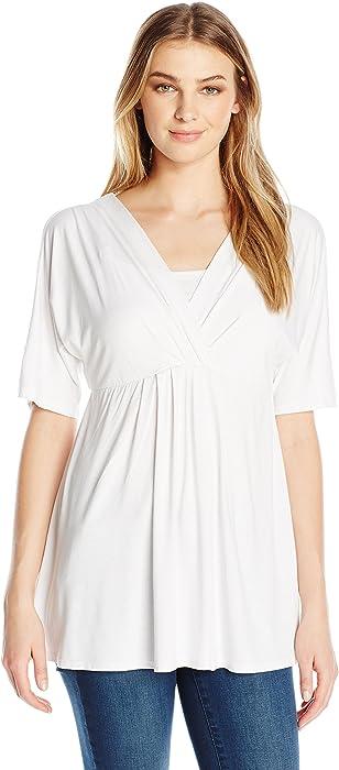 512c6e59ed5 Maternal America Women s Split Sleeve Maternity Nursing Top