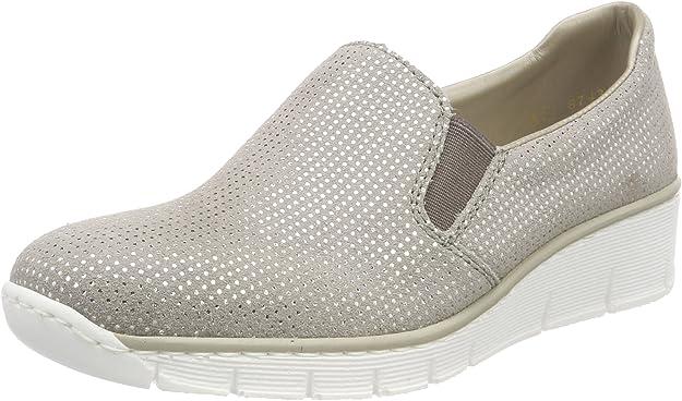 Rieker Ladies' 53766 Slip-On Shoes - Grey - 36 EU: Amazon.de: Schuhe & Handtaschen