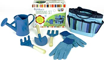 Taylor Toy Blue Metal-Head Gardening Tools