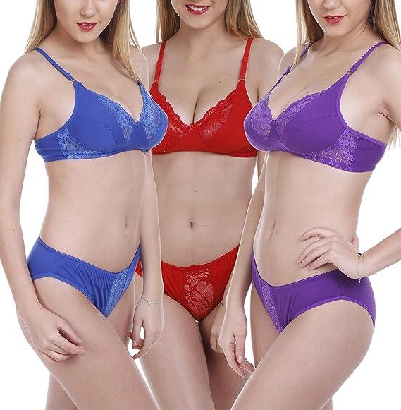 6af5b258c0 FIMS® Women s Cotton Bra Panty Set for Women