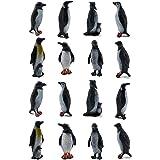 ORZIZRO 16Pcs Plastic Penguin Figurines, Cute Ocean Animal Penguin Figure Model Toys for Kids Children – Realistic & Detailed
