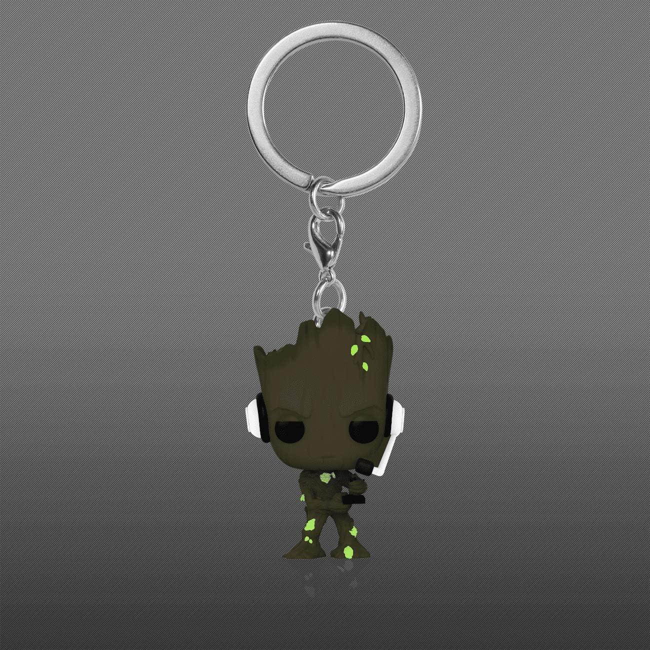 Funko Pocket Pop Keychain: Marvel Groot Gamer Glows in The Dark Exclusive