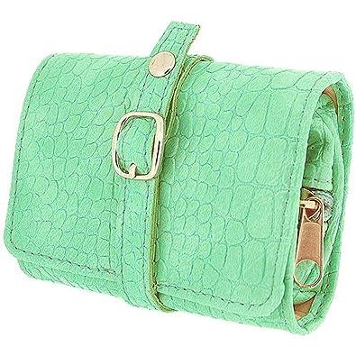 31bf62fe840ba Mele Damen-Mädchen Mintgrüne kompakte Schmuck Reiserolle Tasche ...