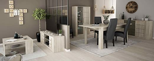 Miroytengo Pack Muebles salón Comedor Completo diseño Moderno ...