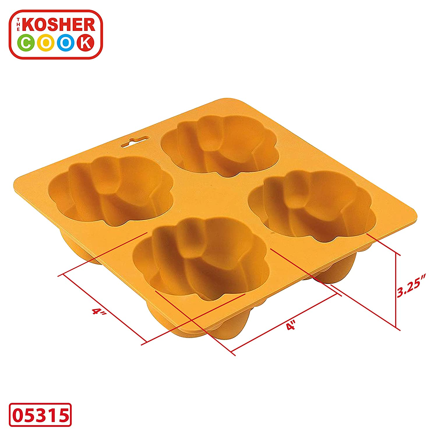 The Kosher Cook KCBW0164 Deluxe Royal Chalets//Rolls Silicone Baking Pan