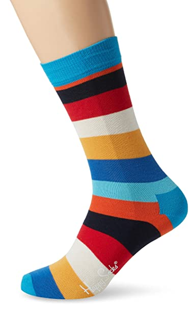 Happy Socks Stripe Sock, Calcetines para Hombre, Multicolor (Multi Dodger Blau 6008)