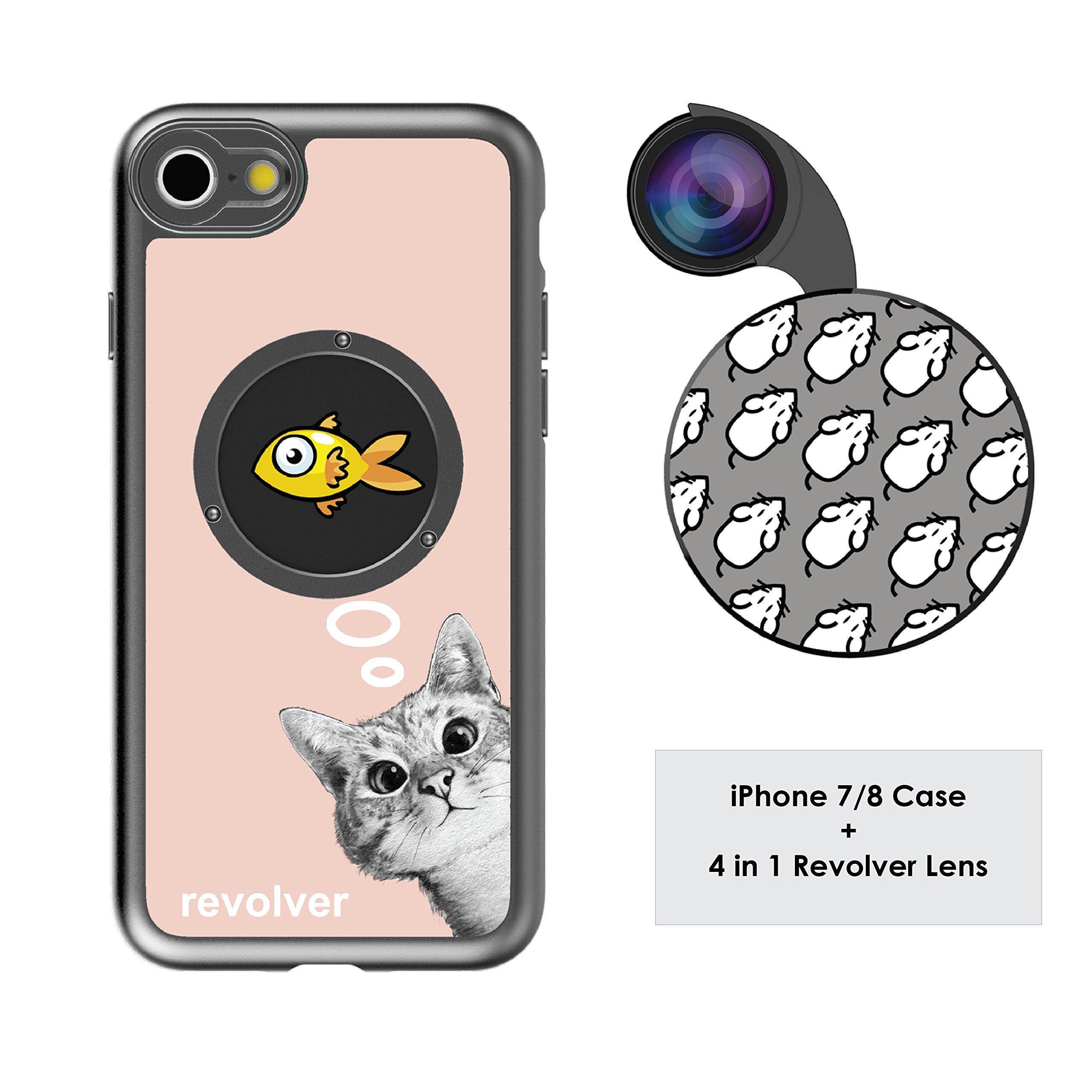 Funda y 4  Lentes Ztylus Revolver p/ iPhone 7/8 - Sneaky ...
