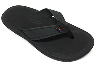 73bbc187b9ac70 Rainbow Navigator Men s Orthopedic w Arch Leather Top Tapered Strap Flip  Flop Sandals (9