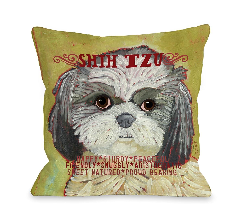 One Bella Casa Shih Tzu 2 Throw Pillow 18 by 18-Inch