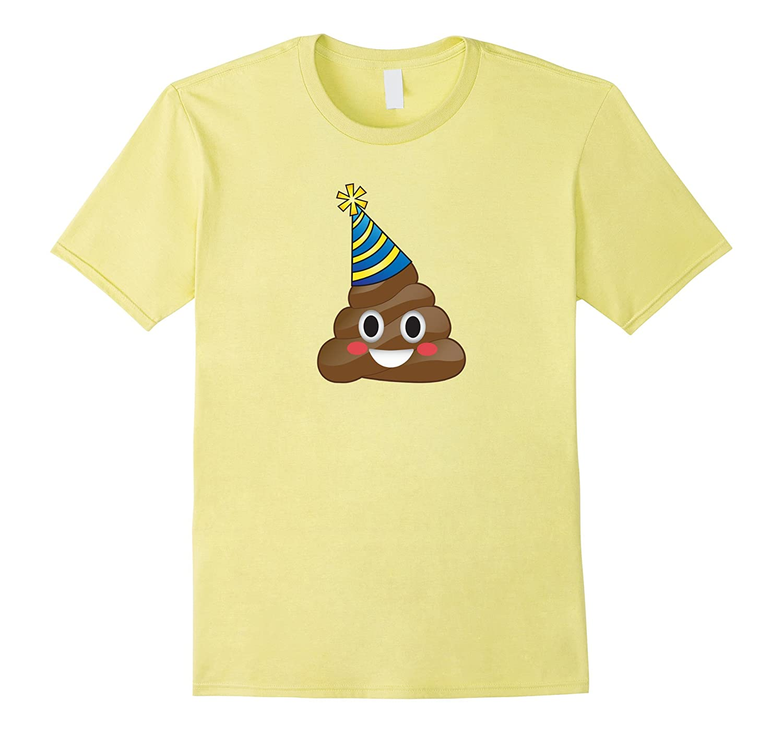 Blue Emoji Party Poop T Shirt