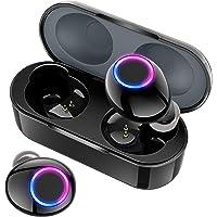 【令和革新デザイン 最新Bluetooth5.0+EDR搭載】 Bluetooth イヤホン Hi-Fi 高音質 3Dステレオサウンド 充電ケース付き 完全ワイヤレス イヤホン 自動ペアリング 両耳 左右分離型 ブルートゥース イヤホン IPX7防水 音量調整 両耳通話 技適認証済/Siri対応/iPhone/iPad/Android対応