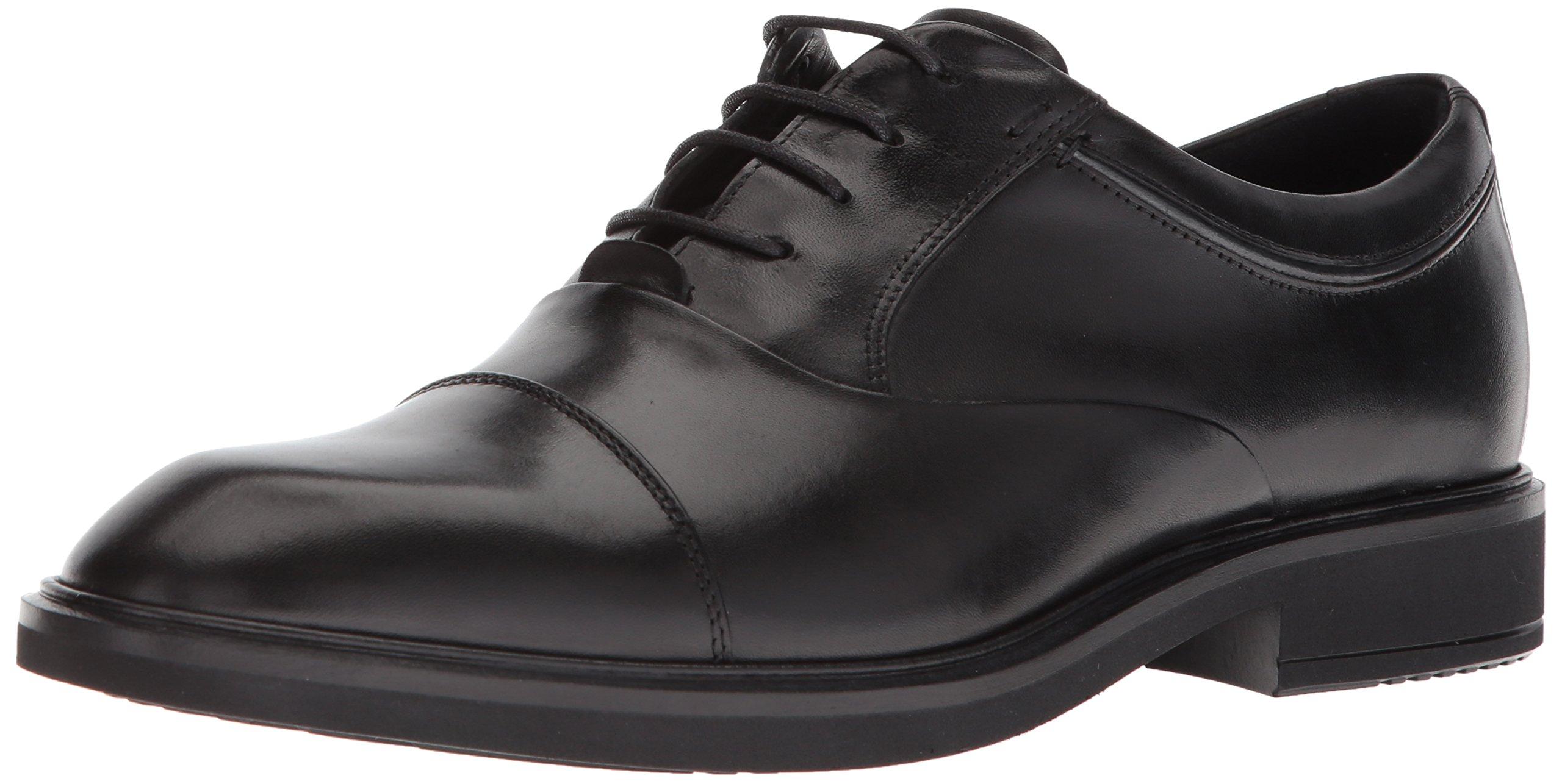 ECCO Men's Vitrus II Tie Oxford, Black Cap Toe, 45 M EU (11-11.5 US)
