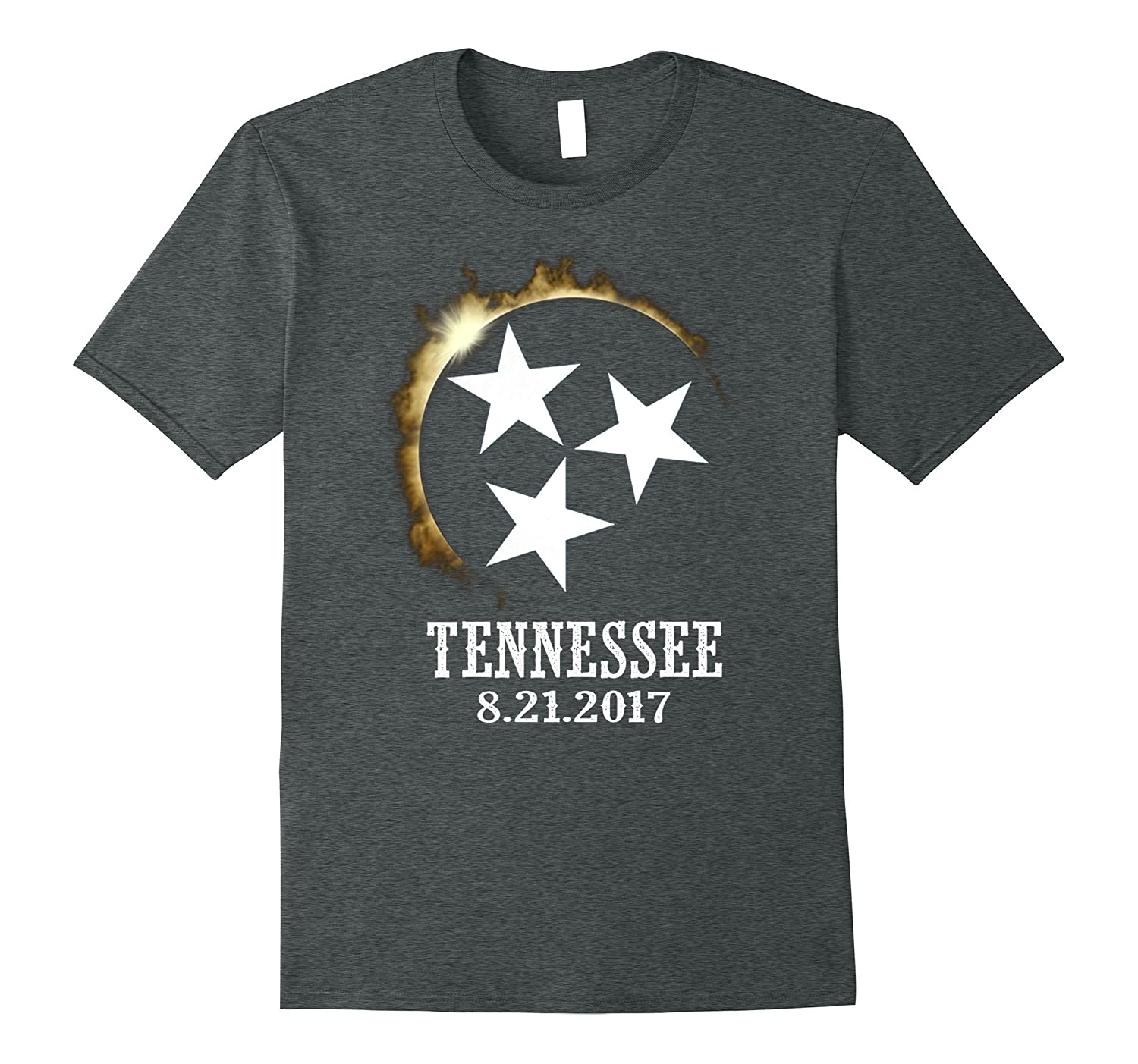 2017 Tennessee Eclipse Viewing Tee Shirt Flag I was There-BN