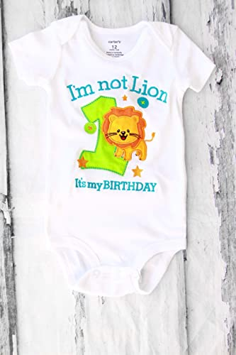 Boy First Birthday Outfit Lion Its My Baby Cake Smash Animal One Year Family Shirts Im Not