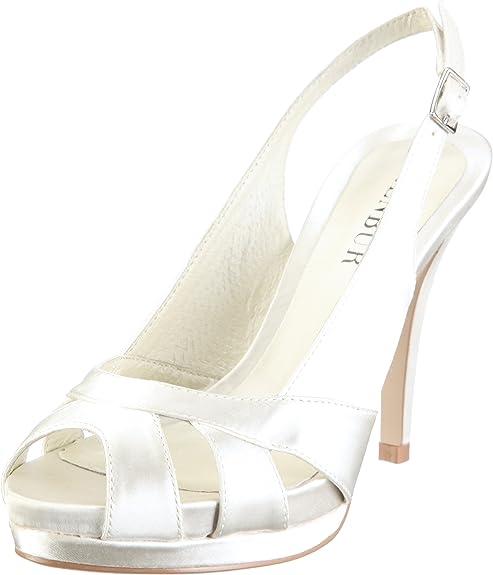 MENBUR Aurora 04556 - Zapatos de Novia de Tela para Mujer