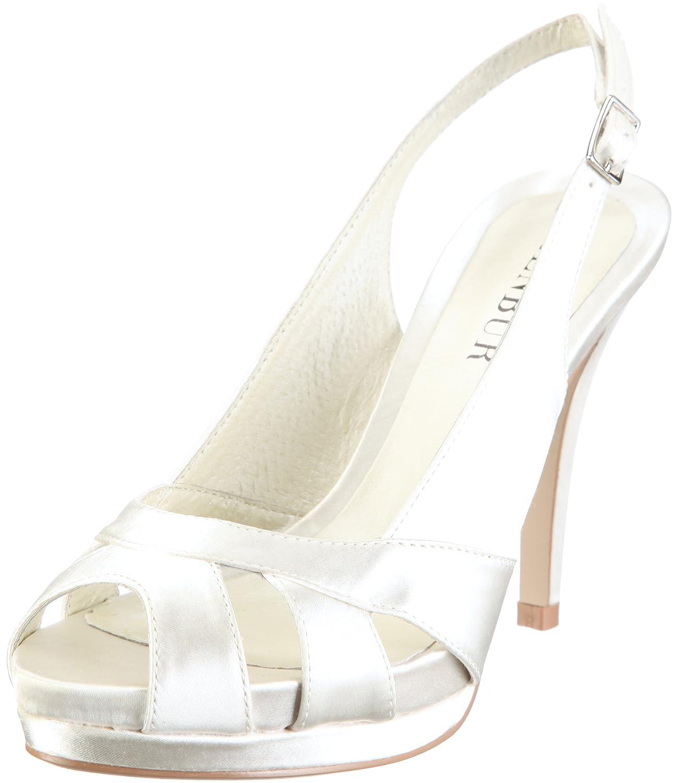 TALLA 40 EU. MENBUR Aurora 04556 - Zapatos de Novia de Tela para Mujer