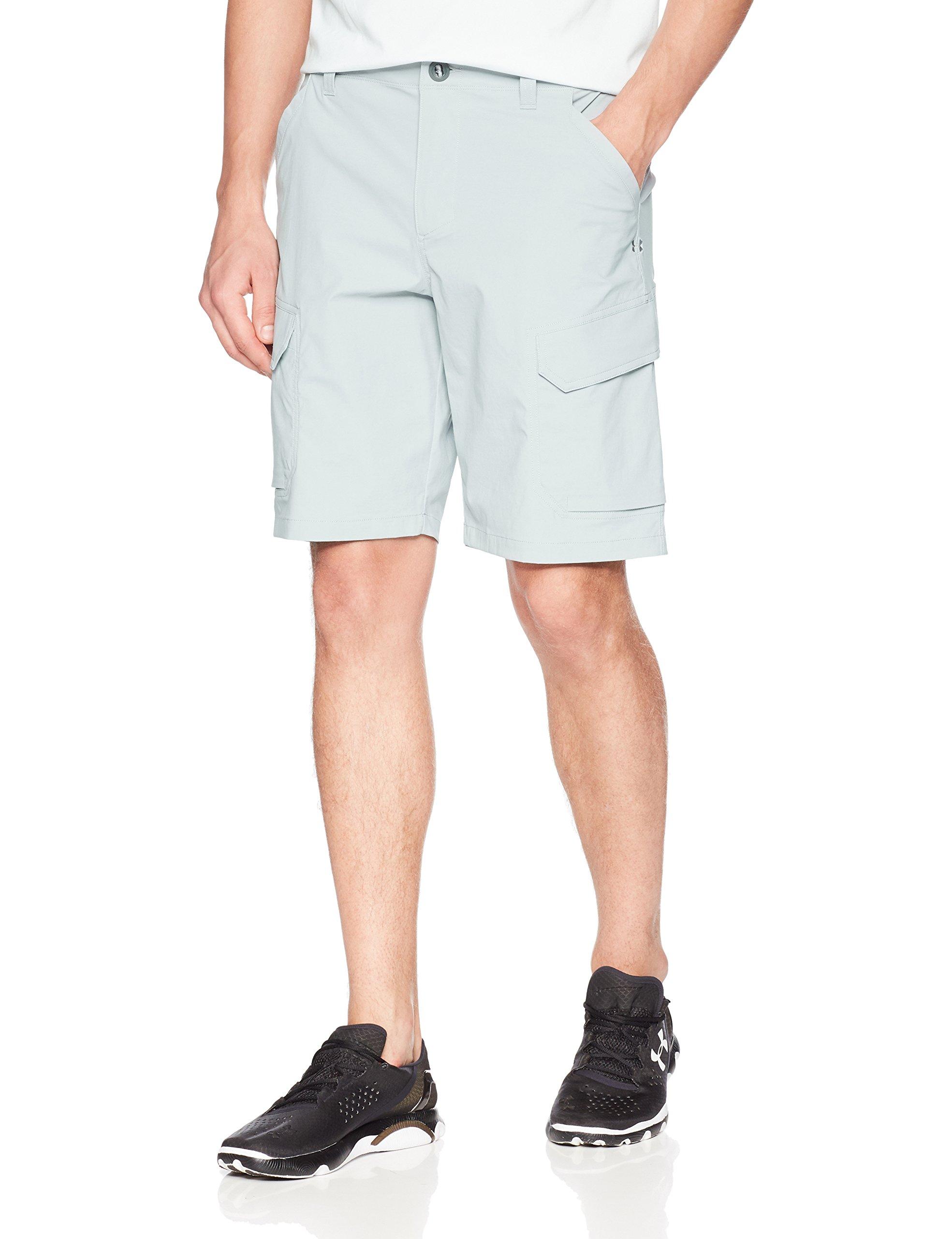 Under Armour Men's Fish Hunter Cargo Shorts, Overcast Gray/Overcast Gray, 38